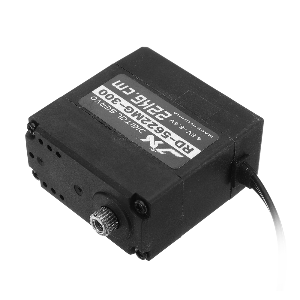 JX RD-5622MG-300 22KG Digital Metal Double Axis Steering Gear 300° Servo For RC Robots