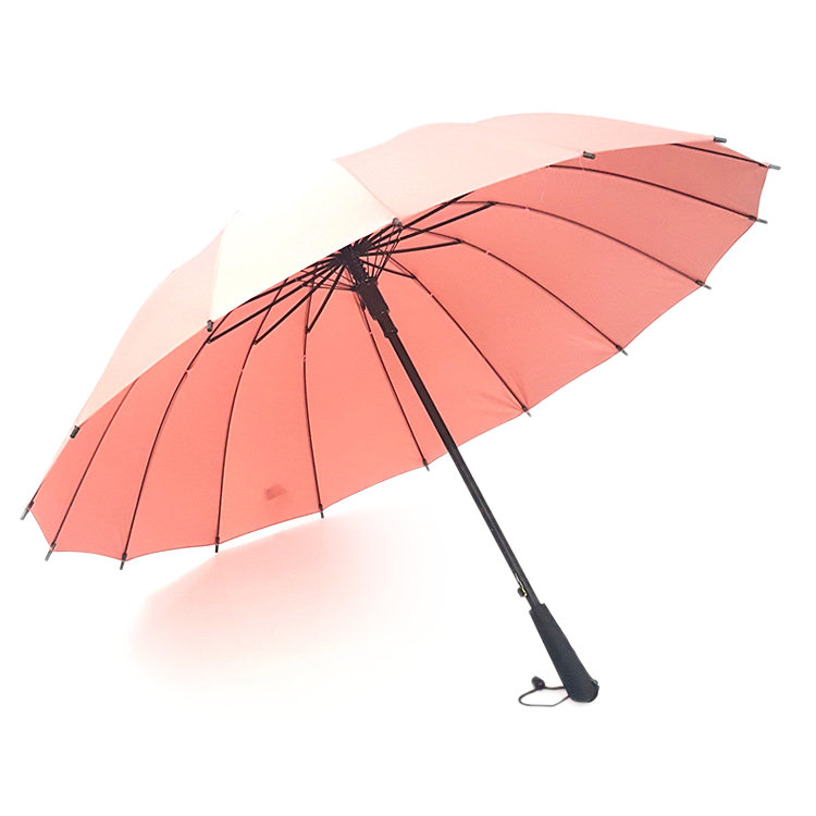 Honana HN-KU2 5 Color Auto Open Golf Umbrella Strong Windproof Outdoor Stick Umbrellas With 16 Ribs