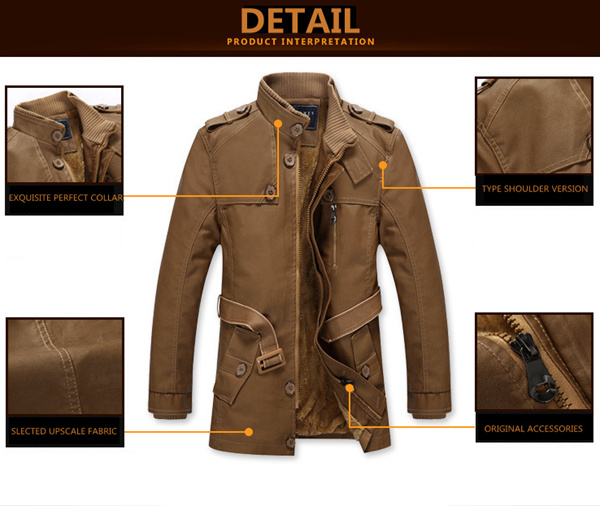 Men Winter Windproof Waterproof Thick Warm Velvet Plus PU Leather Jackets Outdoor Long Parka Coats