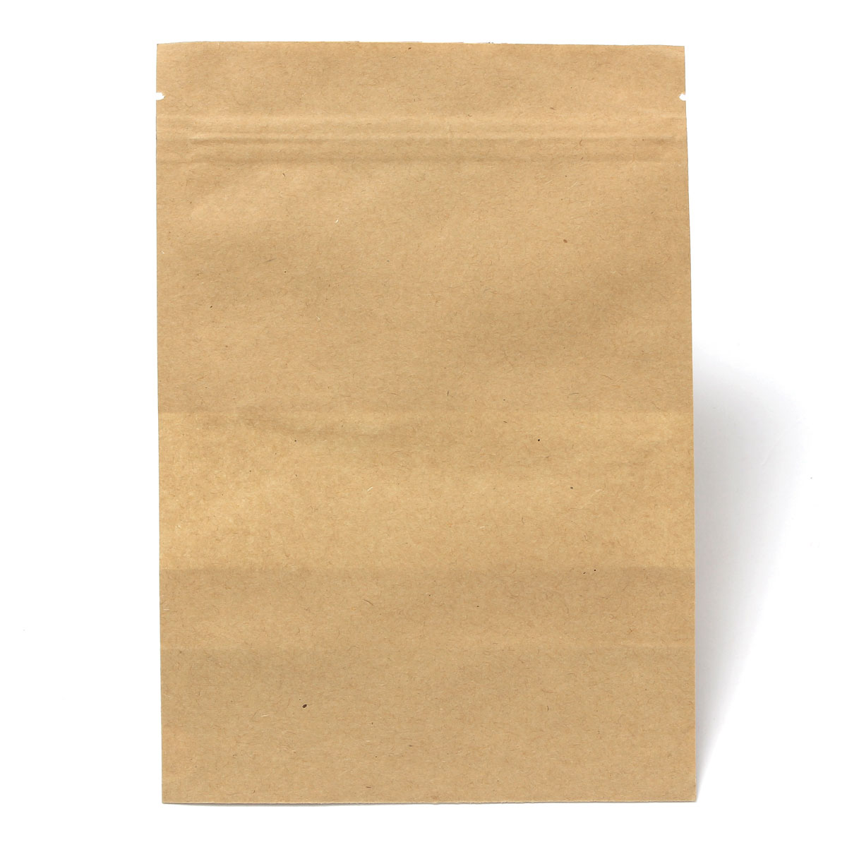 10pcs Kraft Paper Bags Packaging Packing Stand Up Bag With Zipper for Food Storage 140x200mm