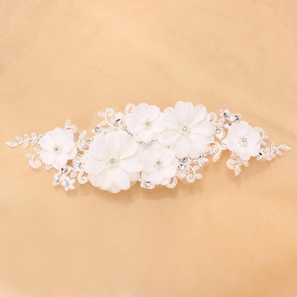 Bridal Woman Jewelry Lace Headdress Wedding Pearl Headpieces