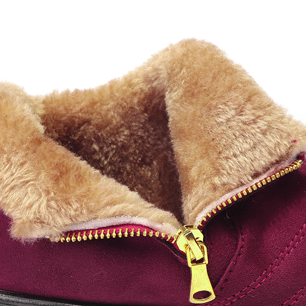 Women Cotton Winter Fur Lining Ankle Boots