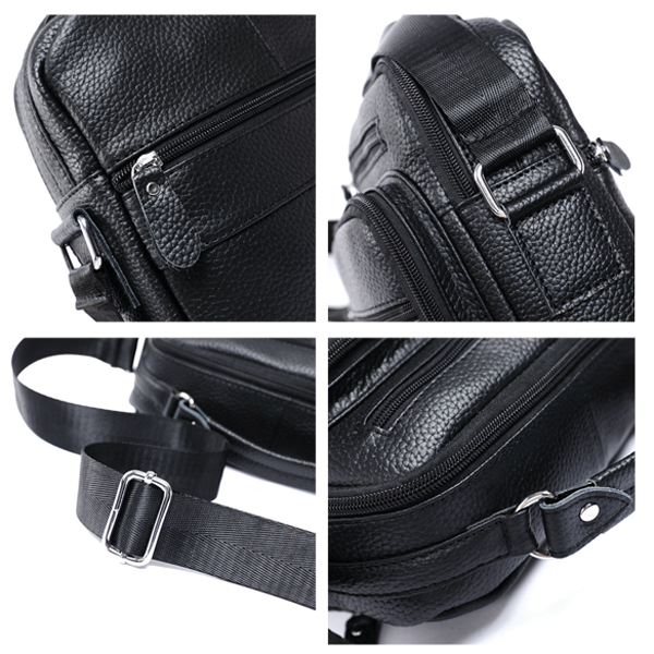 Men Vintage Shoulder Bag Genuine Leather Handbag Waterproof Crossbody Bag