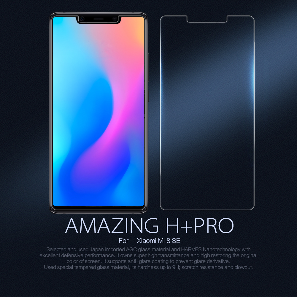 NILLKIN Amazing H+PRO Anti-Explosion Tempered Glass Screen Protector For Xiaomi Mi8 SE 5.88''