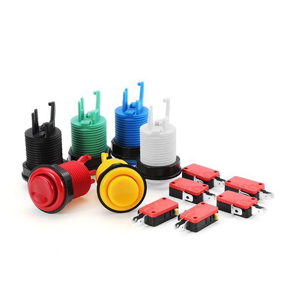 33MM 28MM White Black Blue Red Yellow Green Long Push Button for Arcade Game Console Controller DIY
