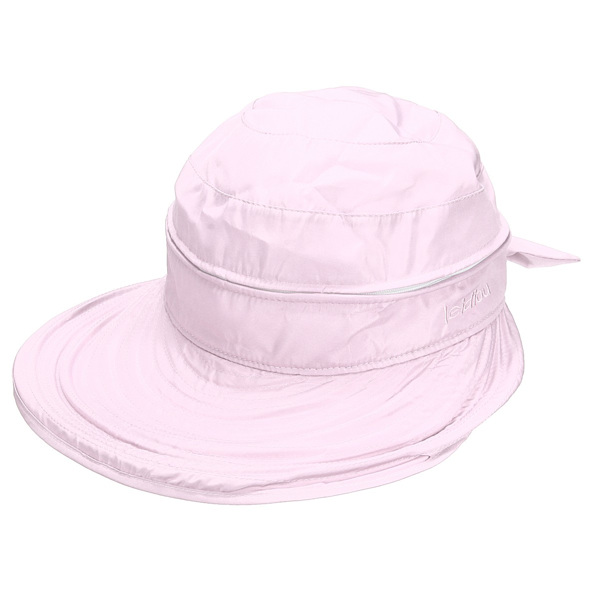 Women Ladies Polyester Wide Large Brim Hat Summer Beach Sun Visor Removable Breathable Cap