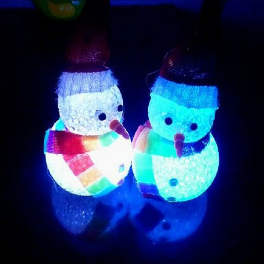 Weihnachten LED Flash Light Nette Schneemann Weihnachtsfeier Dekoration Ornament Kinder Spielzeug Puppen Geschenk