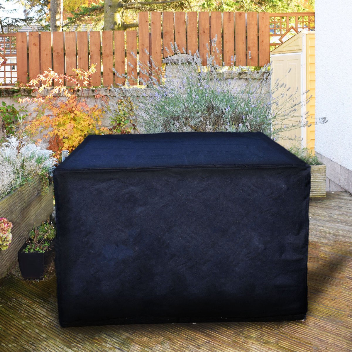 OxbridgeBlack Waterproof Rattan Cube Outdoor Garden Patio Furniture Table Set Cover Protection