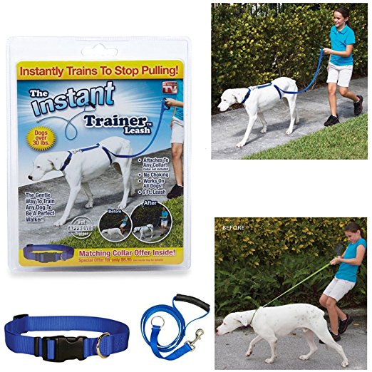 Trainer Dog Leash Trains Dogs 30 Lbs Stop Pulling Walking Leading Leash