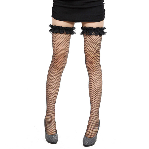 Sexy Tempting Lace Fish Net Mesh Stocking Lingerie For Garter