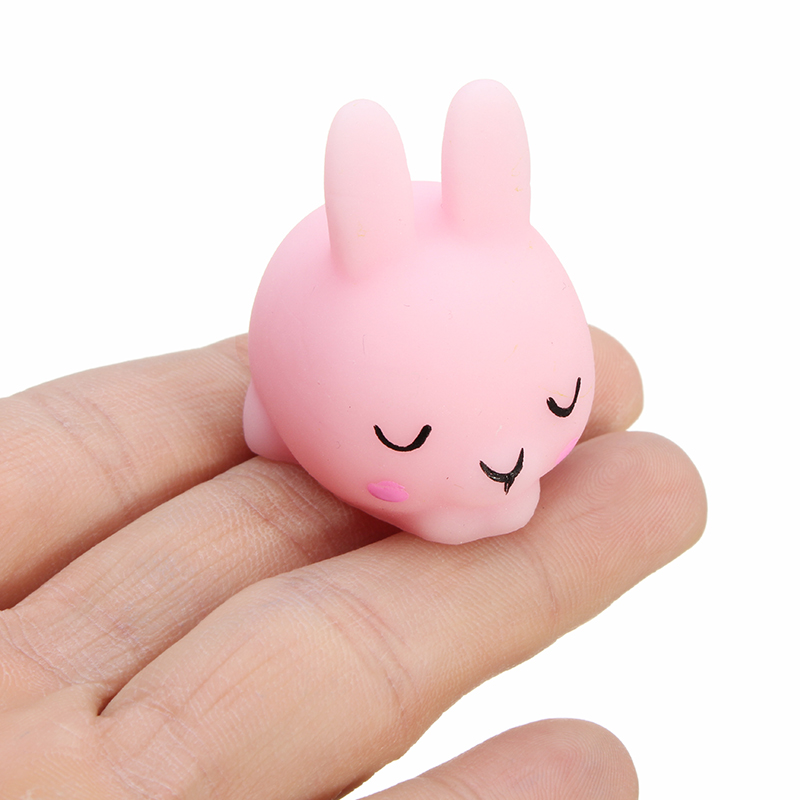Shy Bunny Rabbit Mochi Squishy Squeeze Healing Toy Kawaii Collection Stress Reliever Gift Decor