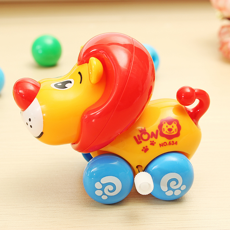 Chain Baby Walking Lion Super Sprouting Animal Wind Up Children Educational Toys