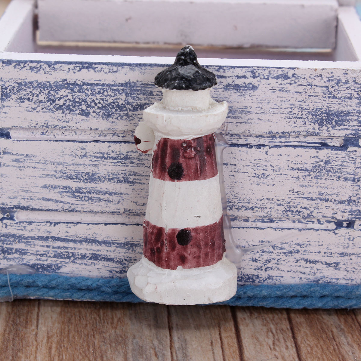 Sea Style Wooden Necklace Earrings Ring Jewelry Storage Box