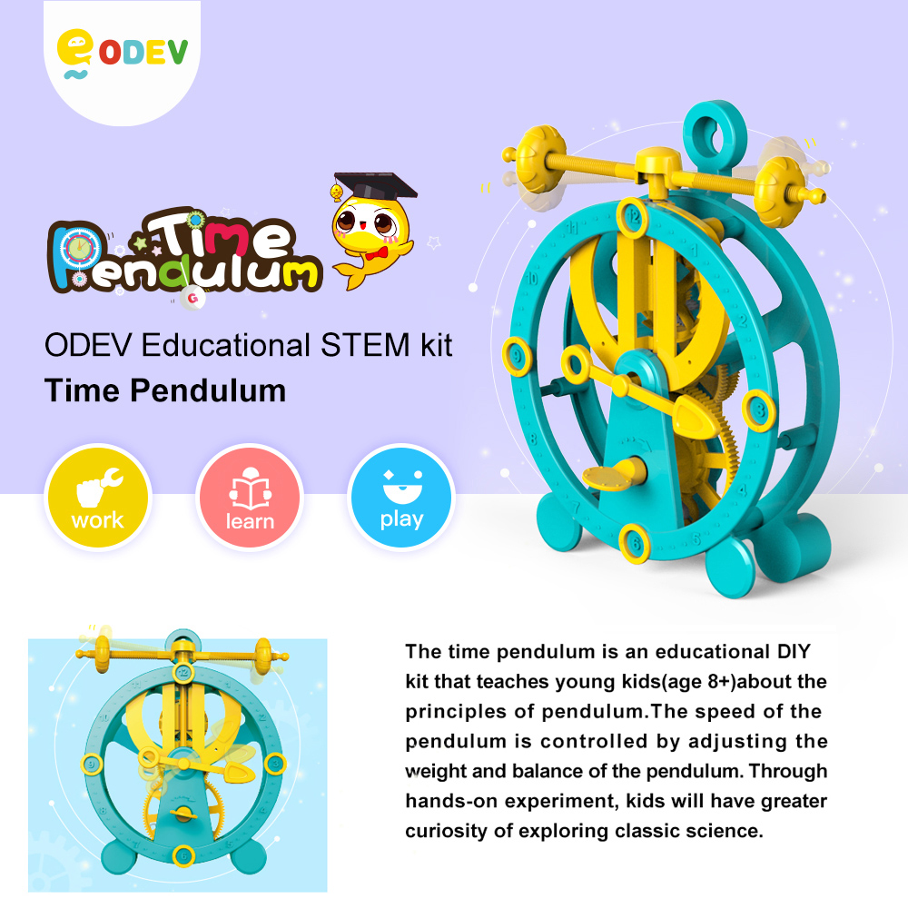 ODEV DIY Science Toy Hands-on Learning Experience Kids Educational STEM Kit Time Pendulum Juguetes
