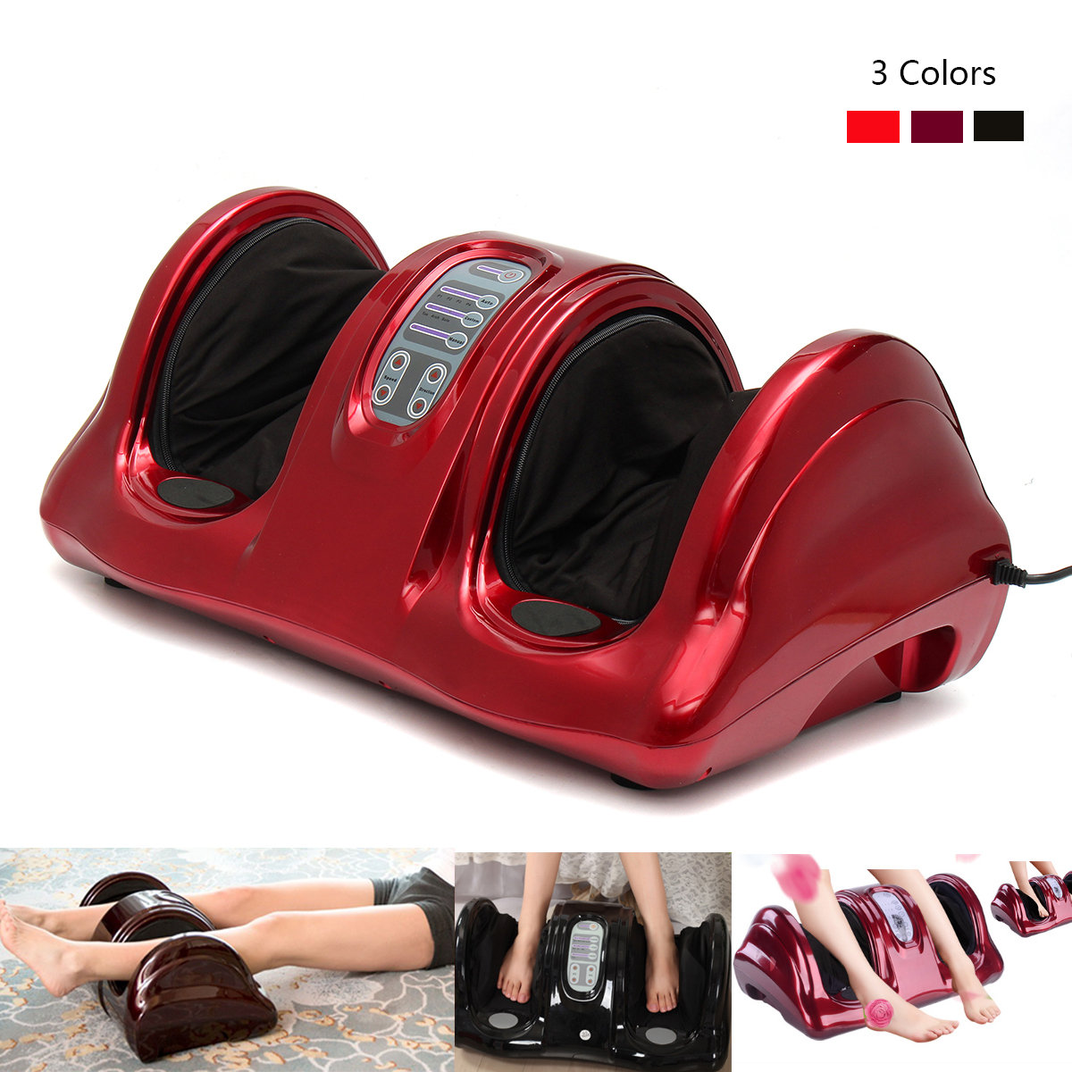 3D Deluxe Foot Ankle And Calf Health Electric Massager