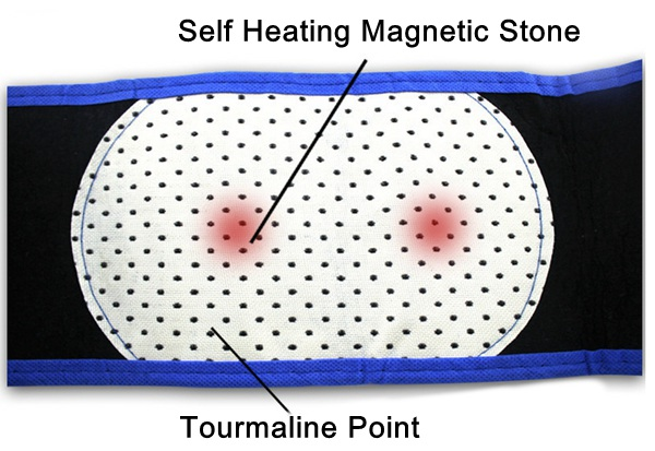Blue Tourmaline Self Heating Magnetic Therapy Pain Relief Back Waist Support Lumbar Brace Belt