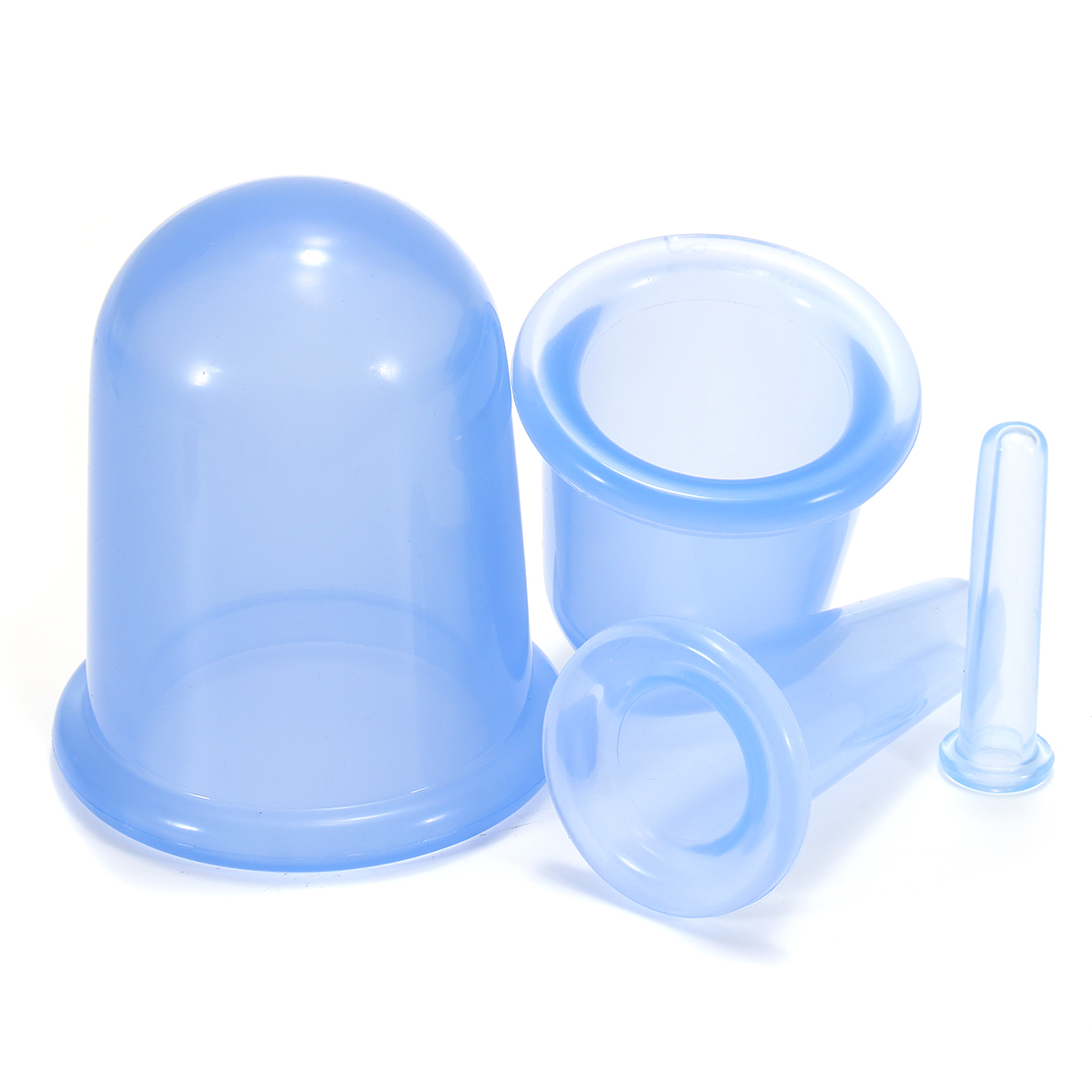 4Pcs Silicone Anti Cellulite Massage Vacuum Cupping Body Cup