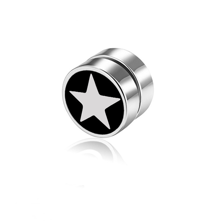 Fashion Magnetic No Pierced Mens Earring Stainless Steel