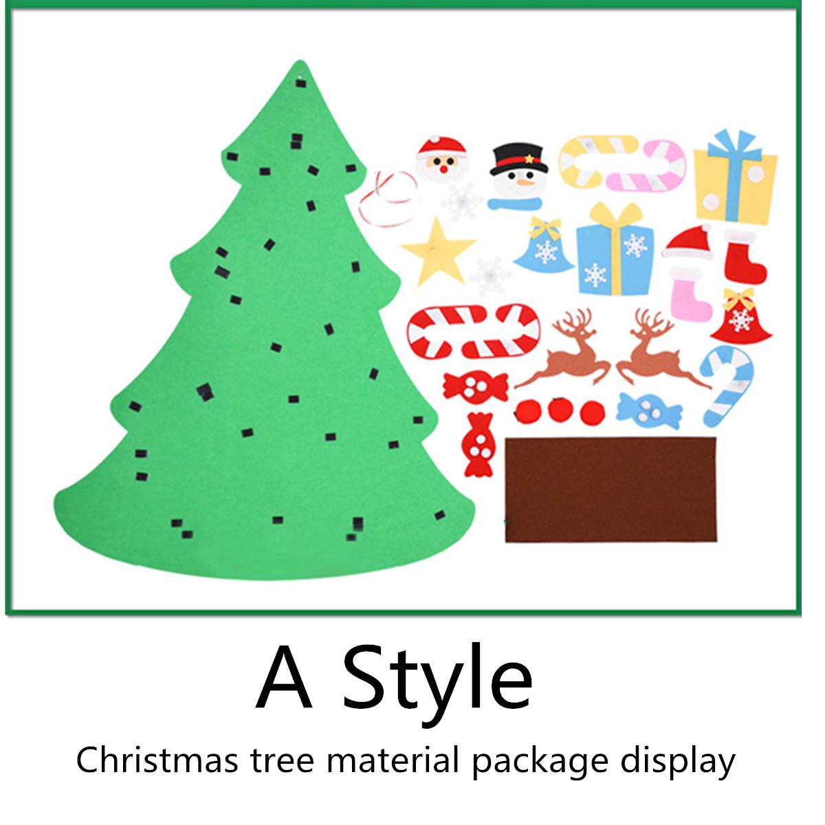 100CM DIY Christmas Deluxe Felt Tree Wall Hanging Toddler Child Preschool Craft Decorations
