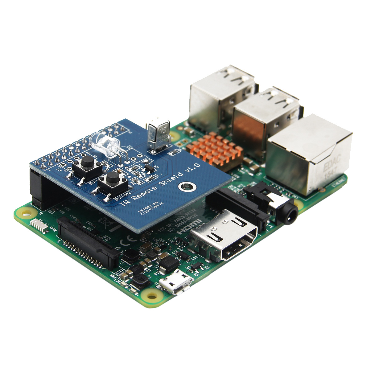 IR Infrared Receiver and Transmitter Expansion Board For Raspberry Pi