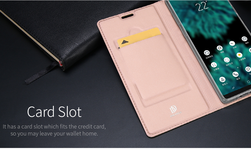 DUX DUCIS Magnetic Flip Wallet Card Slot Kickstand Protective Case For Samsung Glalaxy Note 9