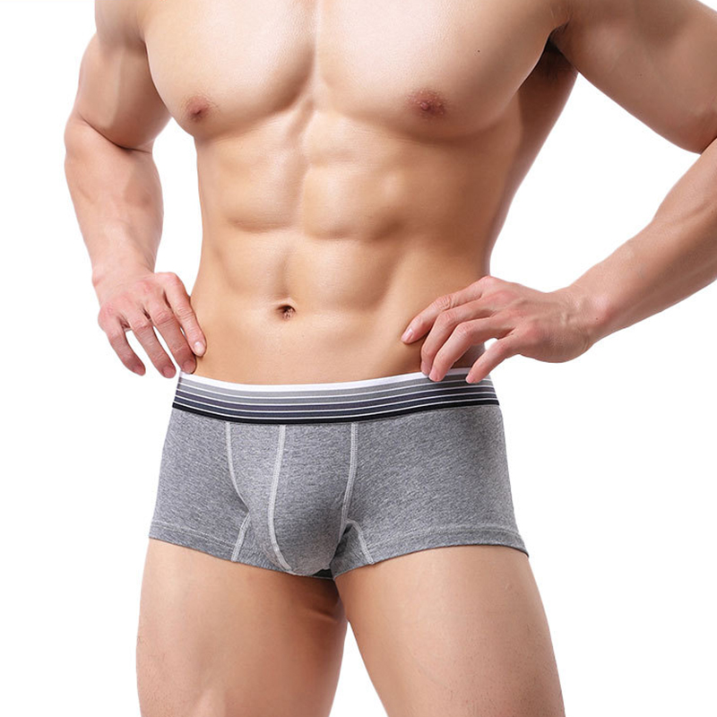 Comfy Breathable Cotton U Convex Boxer Briefs for Men