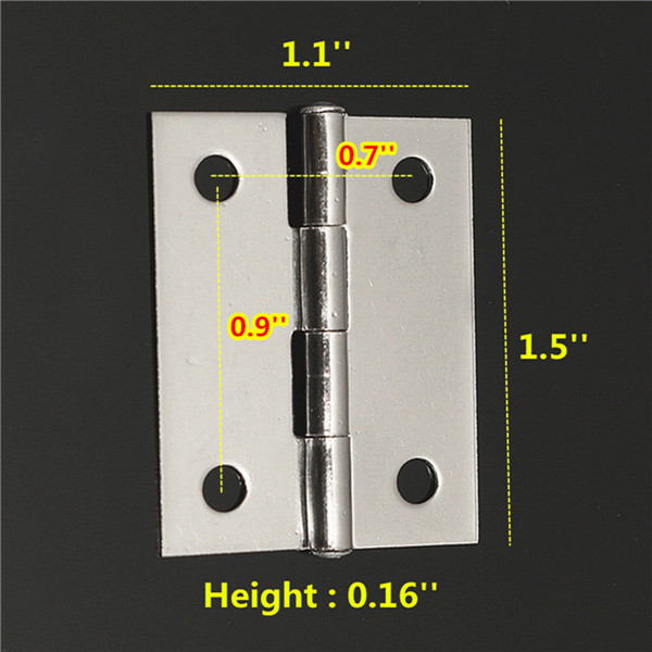 10pcs Stainless Steel Flip Hinge Flush Mount Hinge Table Folding Table Extension