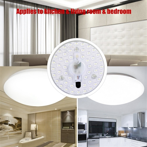 18W 24W LED Radar Motion Sensor Panel Light Module Round Ceiling Lamp Board AC220V