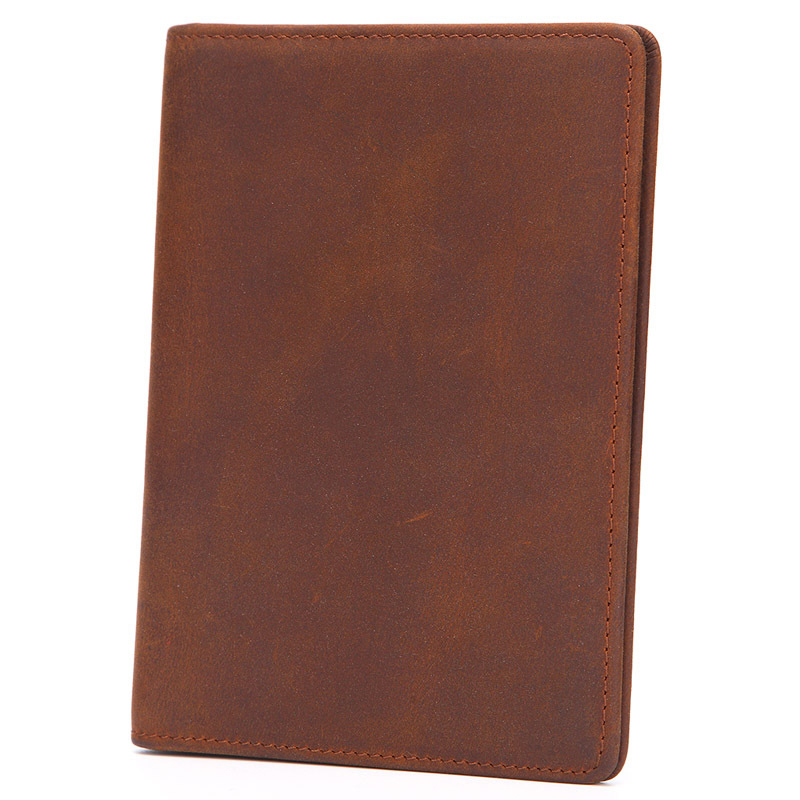 Men Passport Holder Wallet Vintage Minimalist Fashion Genuine Leather Card Holder Certificate Holder