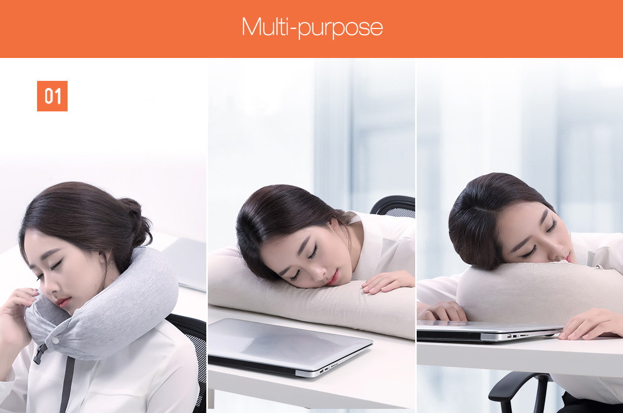 Xiaomi 8H U Shaped Head Neck Pillow Natural Latex Sleeping Cushion Home Office Rest Pillow
