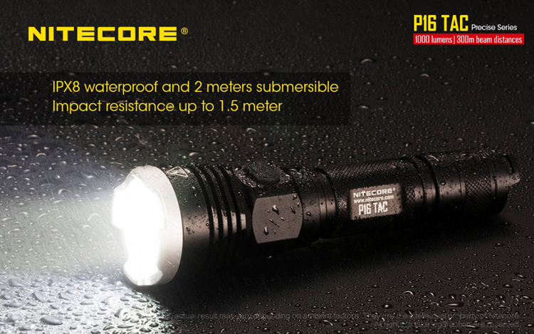 Nitecore P16TAC L2 U3 1000Lumens Tactical Hunting LED Flashlight 300M