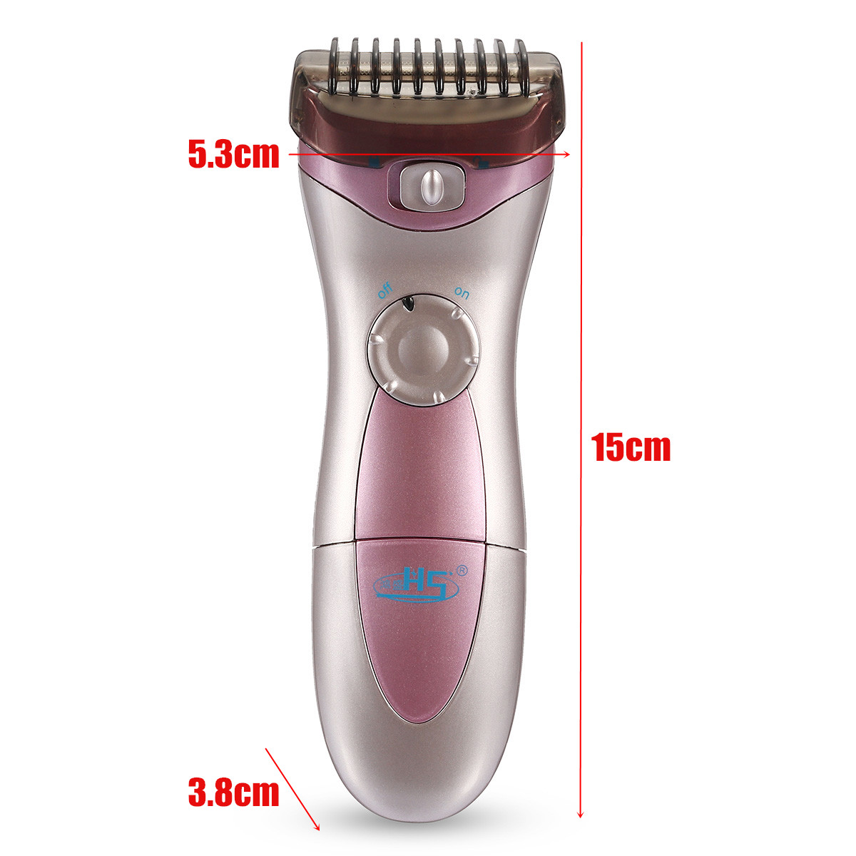Lady Electric Wet Dry Cordless Shaver Women Trimmer Legs Bikini Hair Remover Epilator