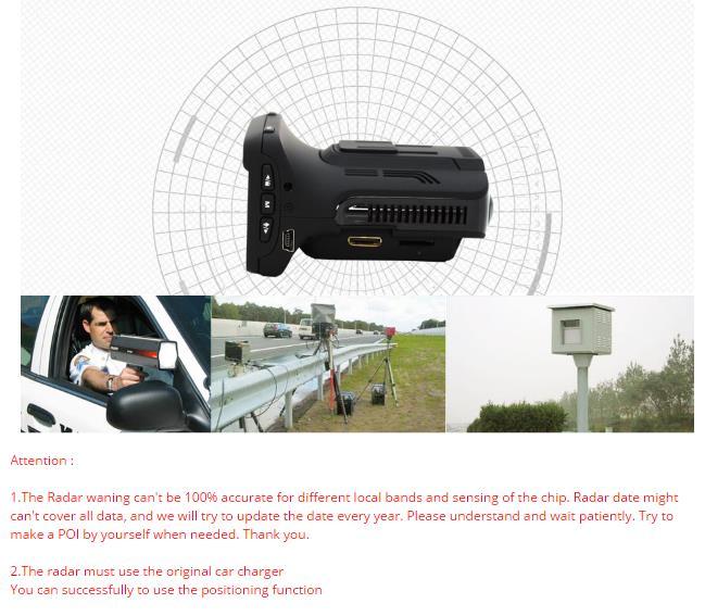 Junsun L2 Ambarella A7 Car DVR Camera Radar Detector GPS 3 in 1 LDWS Video Recorder Russian Language