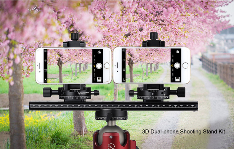 Ulanzi ST-03 Metal Smart Phone Tripod Mount Clip with Cold Shoe Mount Arca-Style Quick Release Plate