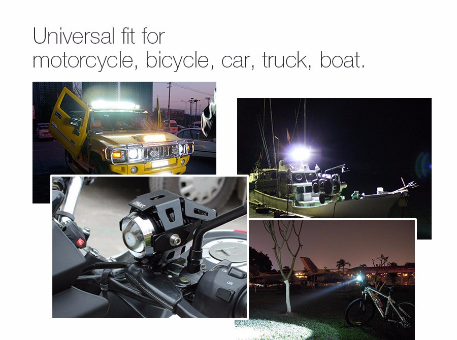 iMars™ iM-L2 U5 Motorcycle LED Headlights Hi/Low Beam Strobe Spot Light