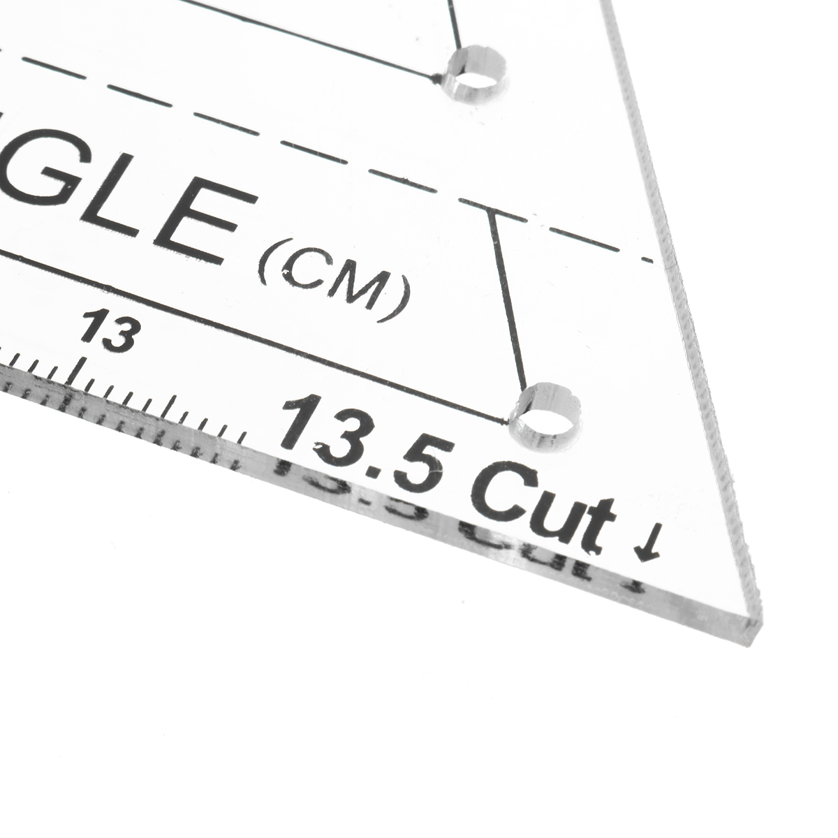 Patchwork Ruler Acrylic Material Multifunction Triangle Quilting Ruler Sewing Tool