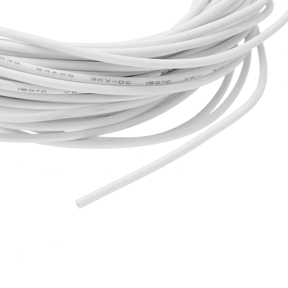 10 Meters 24AWG Electronic Cable Wire Insulated LED Wire White For DIY