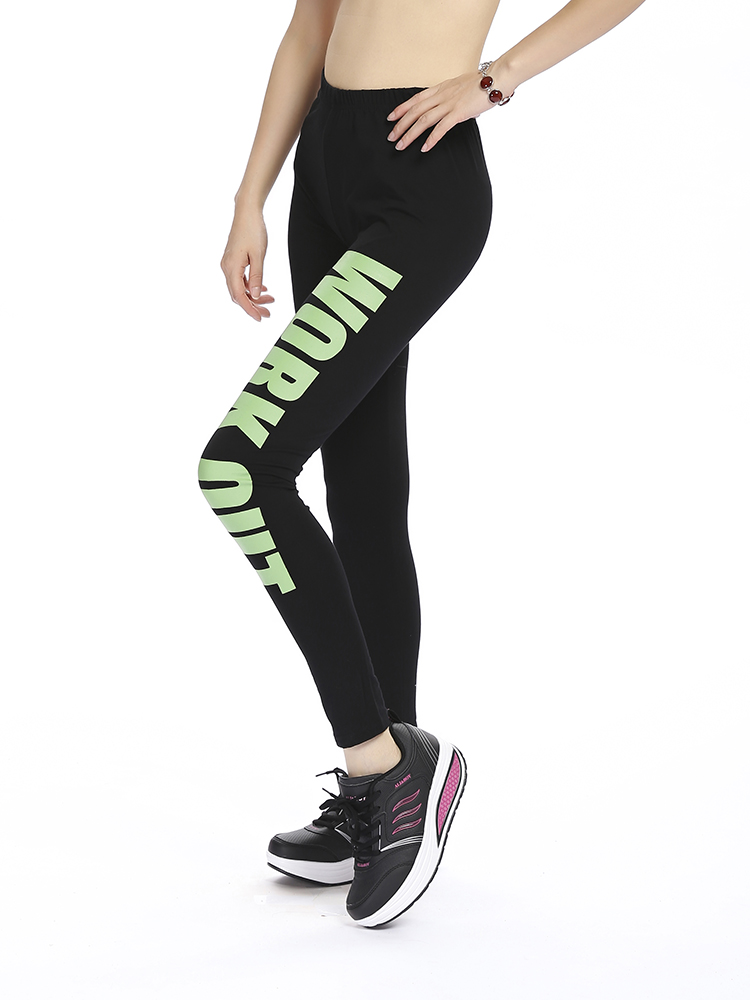 Cotton Fitness Ninth Leggings Yoga Sport Pants
