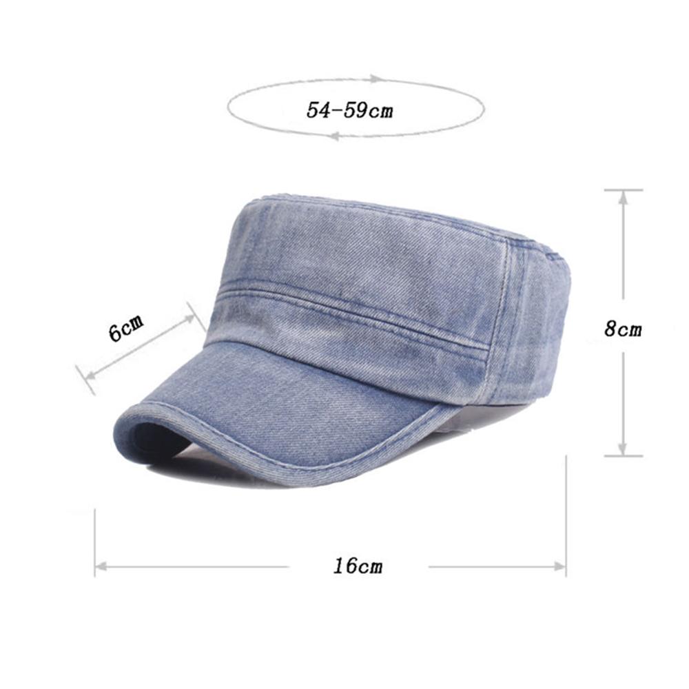 Men Women Outdoor Casual Denim Cloth Flat Hat