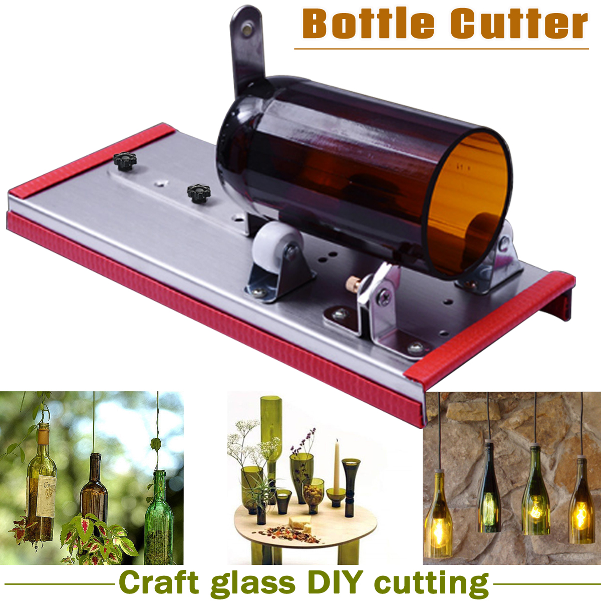 Glass Wine Bottle Cutter Cutting Machine Beer Jar DIY Kit Craft Recycle Tool