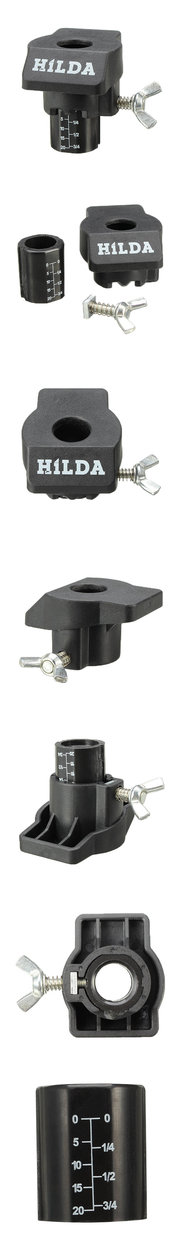 HILDA Sanding and Grinding Guide Attachment Locator Positioner for Rotary Tool Drill Adapter