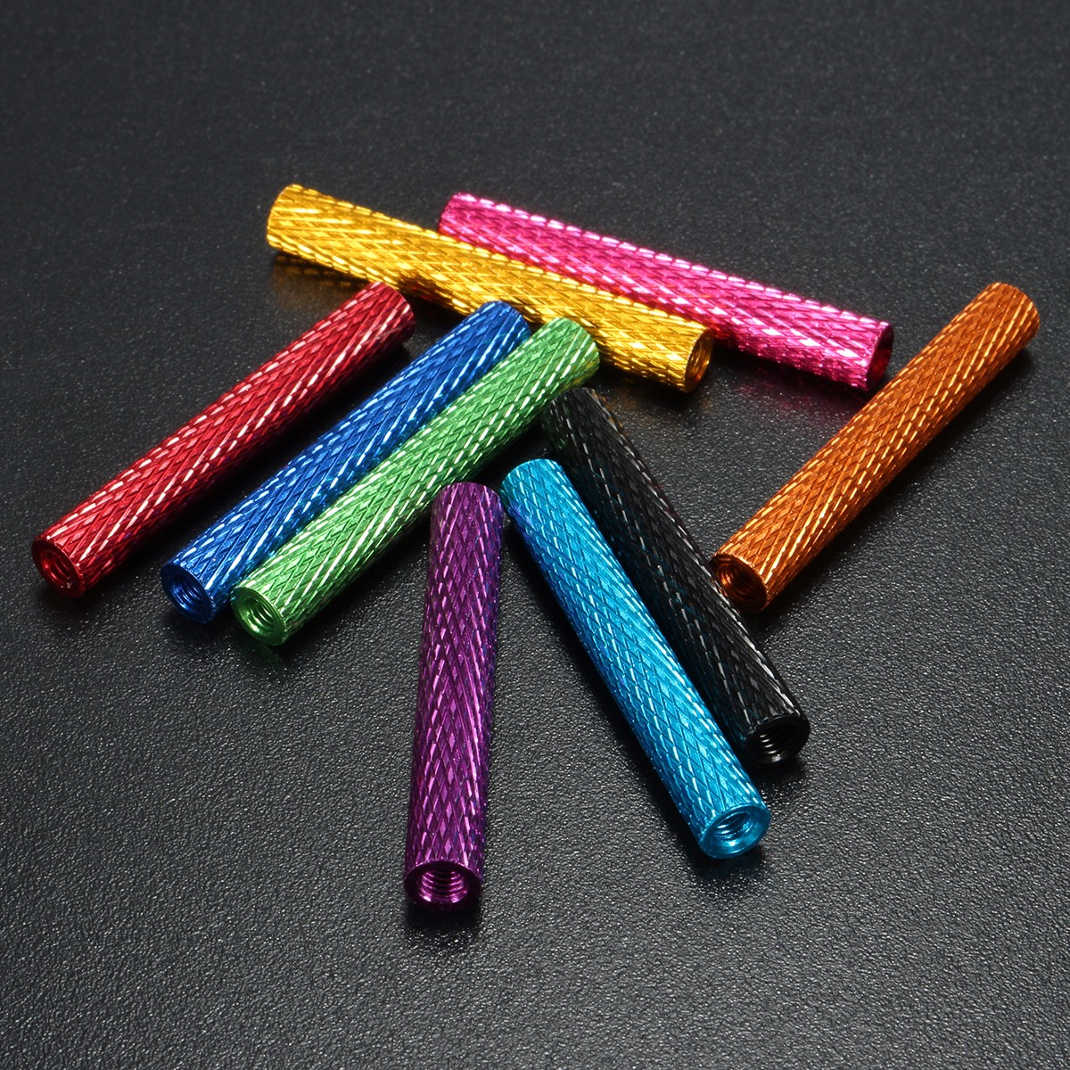 Suleve™ M3AS9 10Pcs M3 40mm Knurled Standoff Aluminum Alloy Anodized Spacer