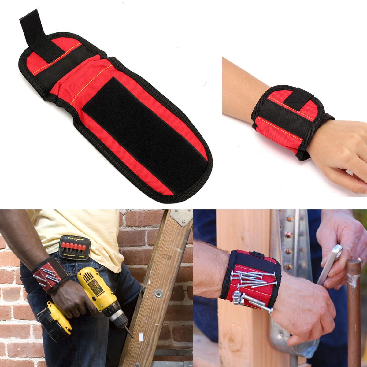 Practical Strong Magnetic Tool Wristbands Magnetic Pickup Sucker Wrist Belt