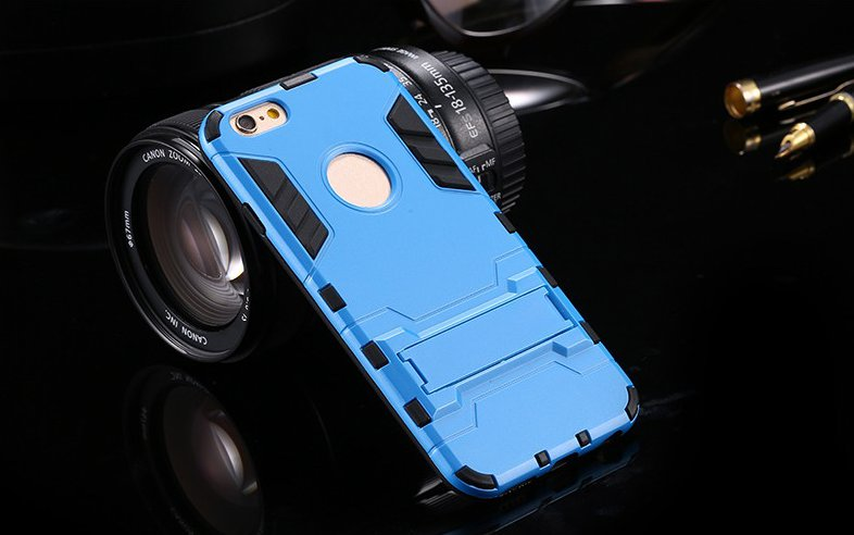 Armor Kickstand Hybrid PC TPU Case For iPhone 6 6s