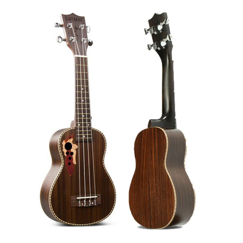 21 Inch Professinal Soprano EQ Electro Acoustic Ukulele Uke 15-Frets Hawaii Guitar