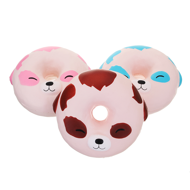 YunXin Squishy Puppy Dog Donut 10cm Scented Soft Slow Rising With Packaging Collection Gift Toy