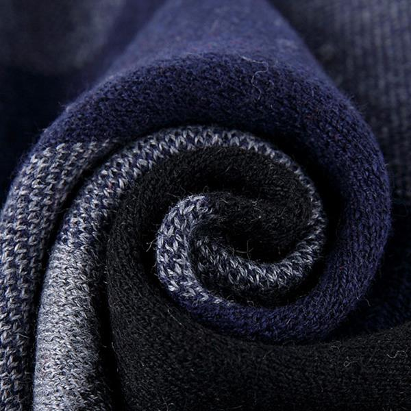 180CM Men Winter Patchwork Thicken Warm Scarves Knitting Soft Neckercheif Scarf