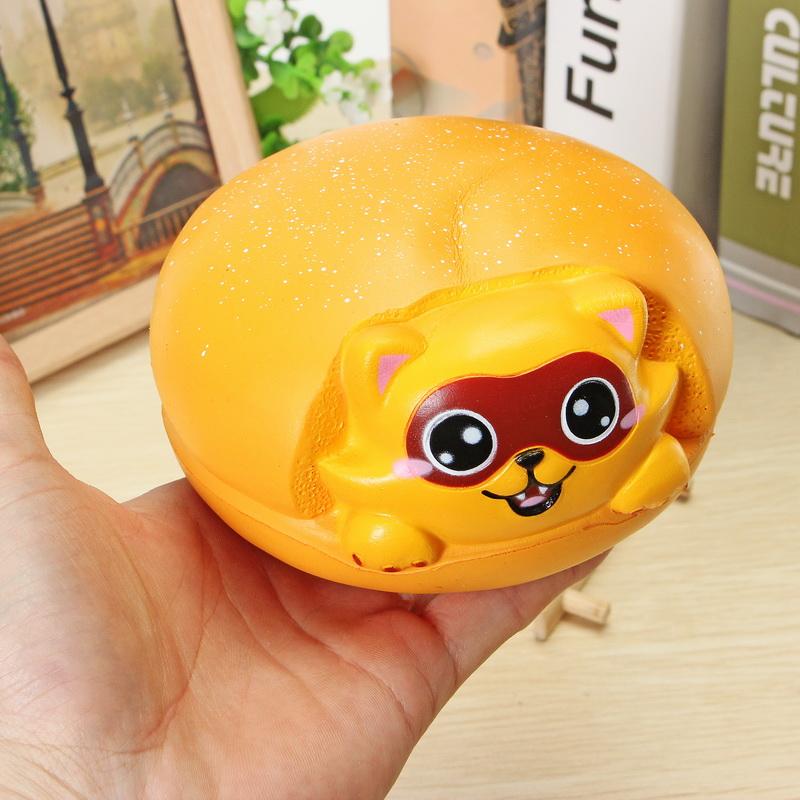 LeiLei Squishy Jumbo Raccoon Cat Burger Hamburger Slow Rising Original Packaing Collection Gift Decor Toy