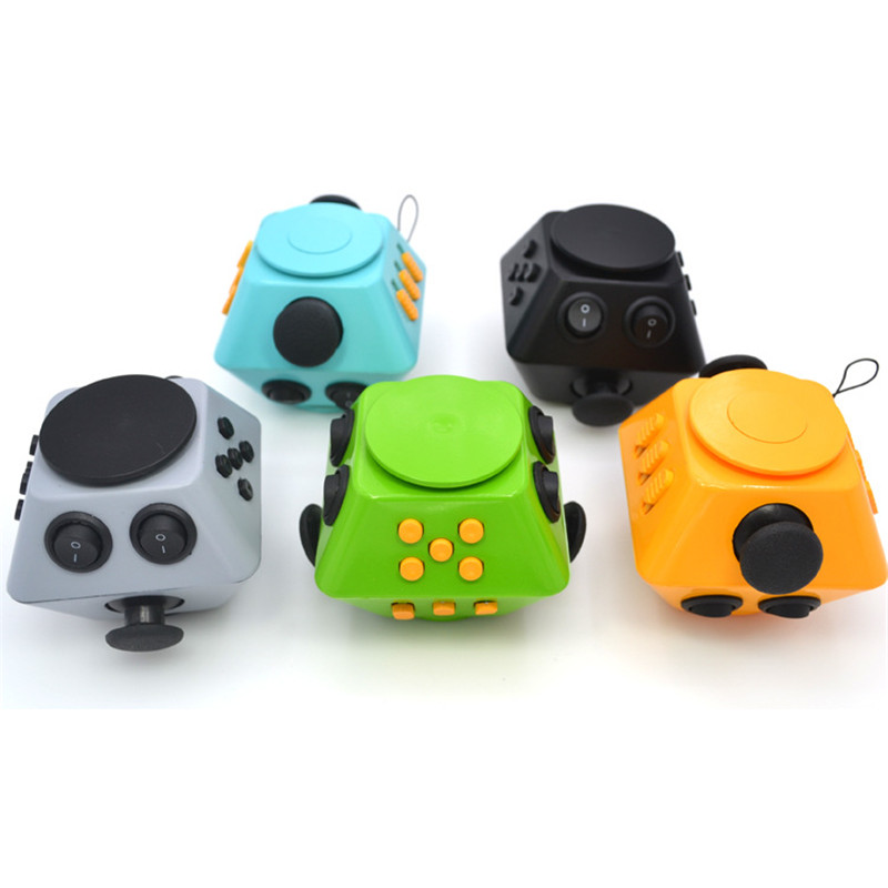 Novel Fidget Dice Relieves Stress Toys Anti Stress Autism ADHD For Children Adult Cube Gift