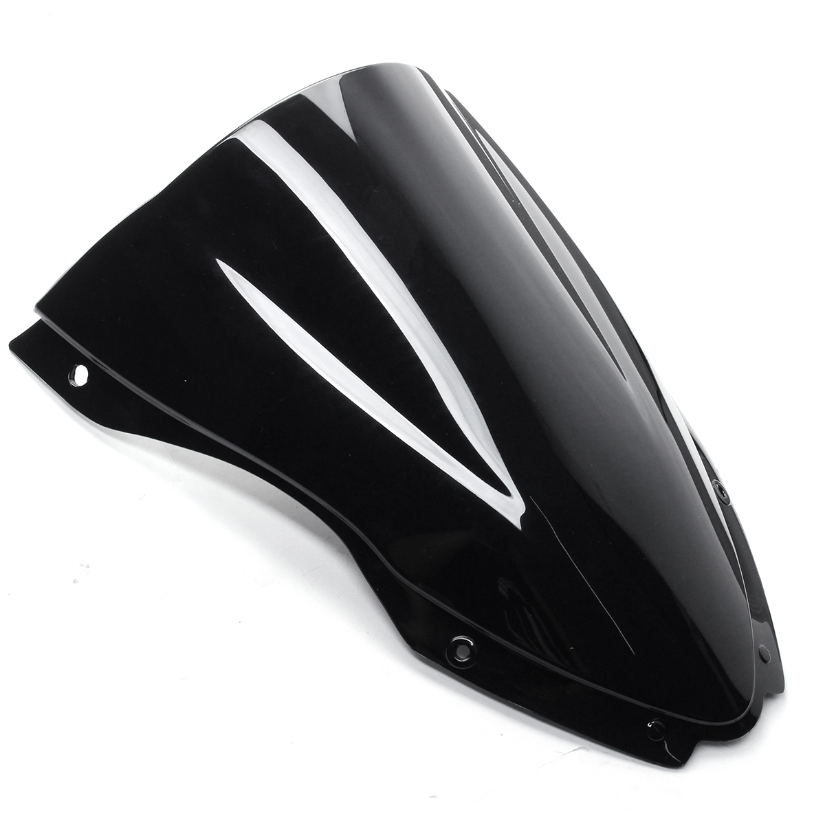 Motorcycle Windshield Windscreen Double Bubble Wind Deflector For Kawasaki ZX-10R 2016-2017